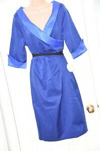 RAIL 3 - Royal blue fully lined dress, UK 16, Lindy Bop, cd friendly