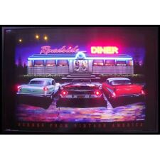 "Roadside Diner Neon Sign Led Picture 36""x24"""