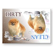 Pomeranian Clean Dirty Dishwasher Magnet New Dog