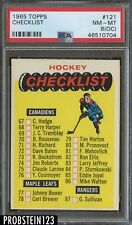 1965 Topps Hockey #121 Checklist PSA 8 (OC) NM-MT