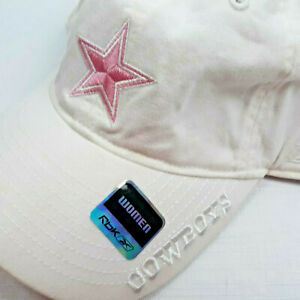 Reebok Dallas Cowboys Slouch Hat NFL Embroidered Wht/Pink Adjustable Strapback