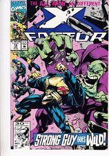 X-FACTOR  #74 1991 -STRONG GUY GOES WILD- POLITICALLY INCORRECT-  DAVID...NM-