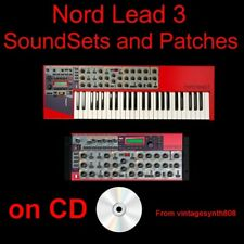 Clavia Nord Lead 3 and rack Synthesizer SoundSets and Patches COLLECTION CD