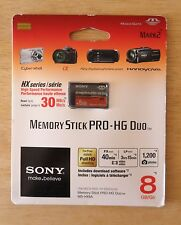 Sony 8GB MS Memory Stick Pro Duo Pro-HG Due HX Series Magicgate Mark2