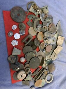 metal detecting finds job lot, Coins Silver Hammered, Medieval, Nice Mixed Lot 6
