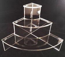 Présentoir plexi 1/4 de rond, pour miniatures de parfum PRE25