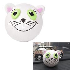 Cute White cat Antenna Ball Car Aerial Ball Antenna Topper Decor Ball Lovely RS