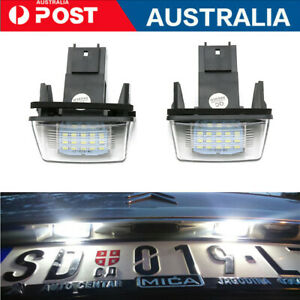 2Pcs LED License Number Plate Lights For Citroen C2 BERLINGO SAXO XSARA Peugeot