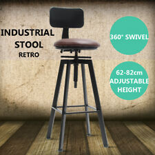 Industrial Adjustable Bar Stool Chair Retro Metal Craft Furniture Cafe Counter