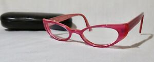 Eye•bobs Eyebobs Retired Smitten Kitten Eyeglasses +1.25  readers #2149, w/case