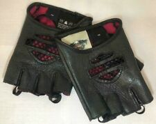 Harley-Davidson Women's mesh Black Leather Fingerless Gloves size XS. Worn once!