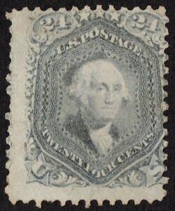 "US Sc# 78b *MINT NO GUM H* { 24c GRAY WASHINGTON } ""SCARCE OF 1862 CV$ 1,000.00"