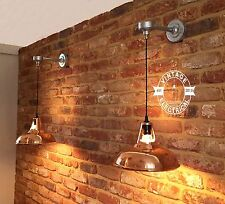 COPPER PENDANT DROP WALL LIGHT INDUSTRIAL VINTAGE HANGING TABLE LAMP