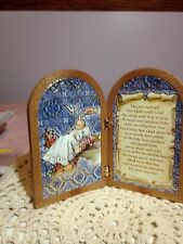 New Italian GOLD FOILED BAPTISM STAND UP PLAQUE BEAUTIFUL & MEMORABLE