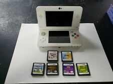 NINTENDO NEW 3DS Super Mario White Special Edition Rare With 6 Games