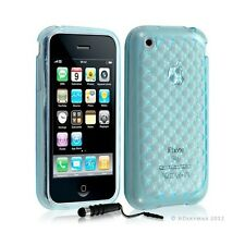 Housse étui coque en gel transparent pour Apple Iphone 3G/3Gs motif damier coule