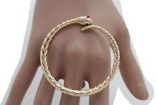 Ring Big Circle Swirl Snake Size 7 Women Long Gold Metal Fashion Jewelry Huge