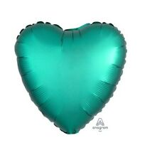 Party Supplies Birthday Engagement Satin Luxe Foil Balloon 45cm Jade Heart