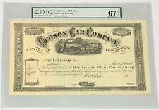 1860s HUDSON CAR COMPANY Hoboken New Jersey PMG 67 Superb Gem Unc