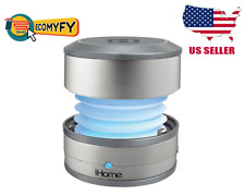 iHome Bluetooth Wireless Rechargable Speaker IBT59 Silver USA SELLER