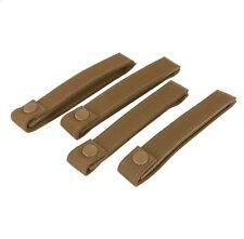 CONDOR MOD MOLLE Modular Nylon 224 Straps Set/4, 6 inch long COYOTE BROWN