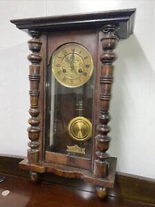 antique Clock Vienna Regulator German Wall Clock Chime - d.r p - FMS