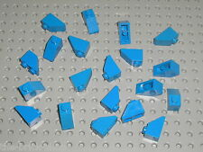 20 x LEGO Blue slope brick ref 3040b / Set 7190 5986 4997 6985 6892 10131 2126..