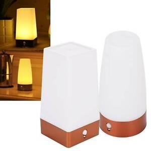 Wireless PIR Motion Sensor LED Night Light Battery Powered Table Warm Lamp UK
