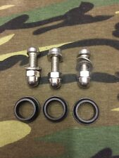 3 X STAINLESS STEEL OPTI BOLTS AND SPEAKER GROMMETS FOR OLD SCHOOL BITE ALARMS