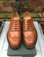 FREE P&P Alfred Sargent Brogue In Tan With A Double Leather Sole SIZE 8 RRP 395