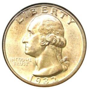 1932-D Washington Quarter 25C - Certified ANACS MS60 Details (UNC) - Rare Coin!