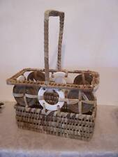 Woven Silverware Basket Outside Table Party Decoration