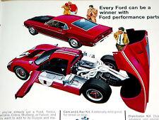 1969 FORD MUSTANG MACH 1*TORINO GT*COBRA*GT40*ORIGINAL SALES BROCHURE AD*hood/40