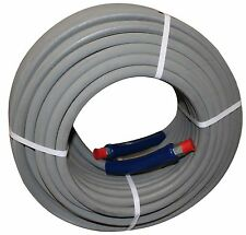 """200 ft 3/8"""" Gray Non-Marking 6000 psi Pressure Washer Hose HOT WATER STEAM 200'"""