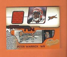 2002 AUTHENTIX RIPPED  PETER WARRICK GAME-USED JERSEY #JA-PW CINCINNATI BENGALS