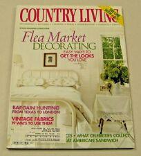 Country Living Magazine April 2001 Flea Market Decorating Vintage Fabrics