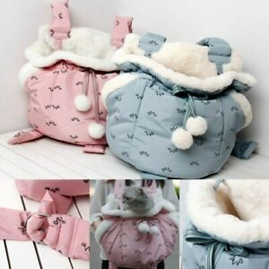 Dog Backpack Carrier Pet Front Chest Puppy Bag Travel With Leash Winter Handbag