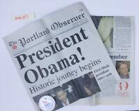 Official 2008 Election Campaign Pin BARACK OBAMA Button JOE BIDEN + 2009 newsppr