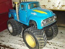 Vintage Tootsietoy 1956 Ford F100 monster Truck blue