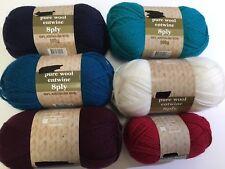 New pure wool 8ply 100% australian wool 50-100g balls knitting scarves crochet