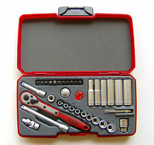 Teng Tools T1436 1/4 square drive 36 piece metric socket set 167290105