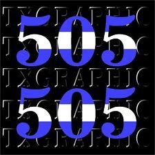 Nicaragua AREA CODE 505  DECAL Flag Color Calling VINYL STICKER,  1 SET OF 2