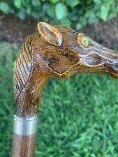 Vintage estate Horse Head Handle Design Cane Walking Stick