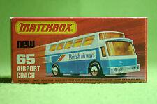 Modellauto - Matchbox - Superfast - Nr. 65 Airport Coach - OVP