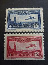 FRANCE #5/6 POSTE AERIENNE Avion survolant Marseille Luxe** Cote 94 Euros