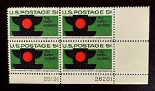 US Stamps, Scott #1272 5c 1965 Plate Block of Traffic Safety XF M/NH