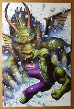 Hulk Vs Fin Fang Foom Marvel Comics Poster by Jim Cheung