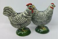 Vintage Goebel Plymouth Rock Chickens Salt and Pepper Shaker Set