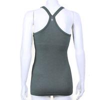 LULULEMON Ribbed Texture Earthy Green Tank Top Cotton Blend Womens sz 6 - 2720