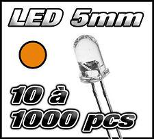 """E407# """"Livraison gratuite"""" LED orange 5mm de 10 à 1000pcs  orange LED"""